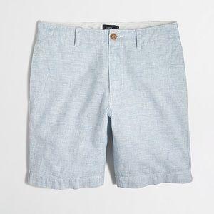 """NEW J. Crew 9"""" Linen-Cotton Beach Shorts"""